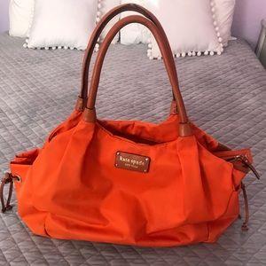 Kate Spade large orange canvas diaper/gym bag.